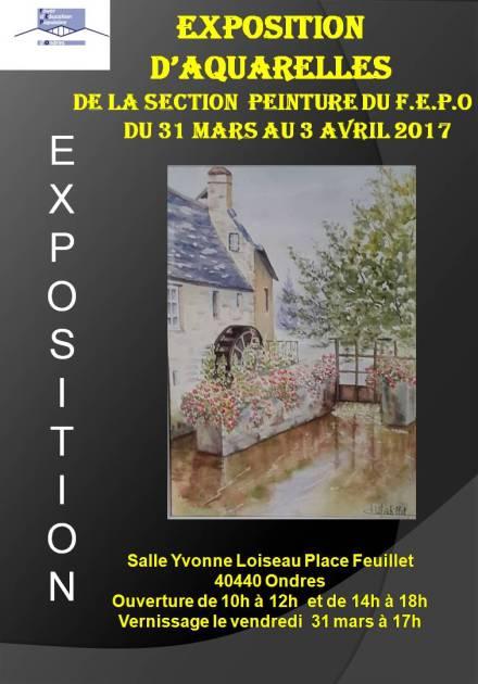 Affiche expo Aquarelle FEPO