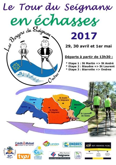 Affiche Tour du Seignanx 2017
