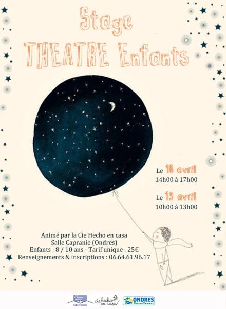 Stage théâtre enfants avril 2017
