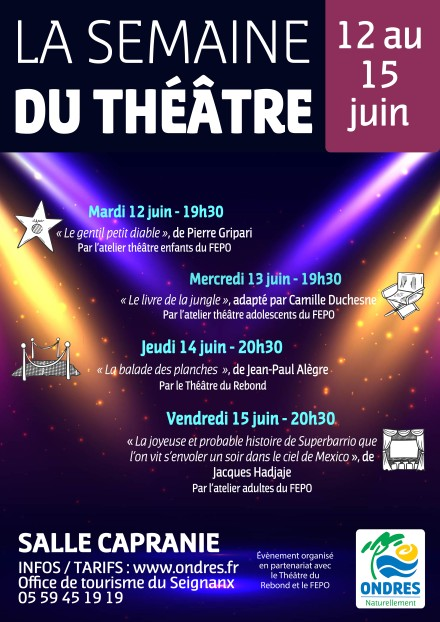 Affiche Semaine du théâtre