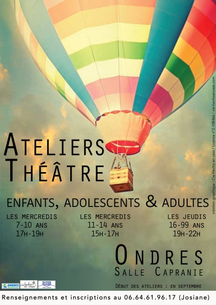 Affiche 3 ateliers